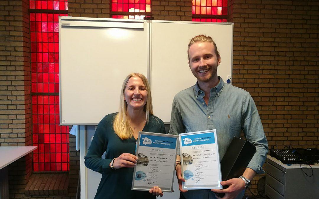 Atium wins WaterCampus Business Challenge in Holland
