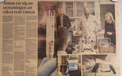 Atium featured in Göteborgs-Posten